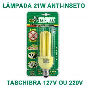 LL02T Lâmpada Econômica  21W - Anti-Inseto 3U (Rosca E-27)