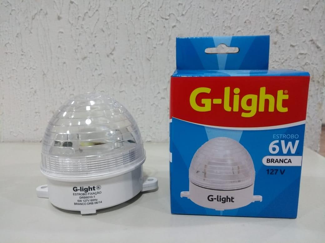 Lampada Estrobo Redondo Luz Branca 6w 127W - G-light