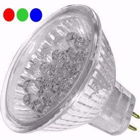 Lâmpada LED  1,3W Dicróica 18 LEDs RGB