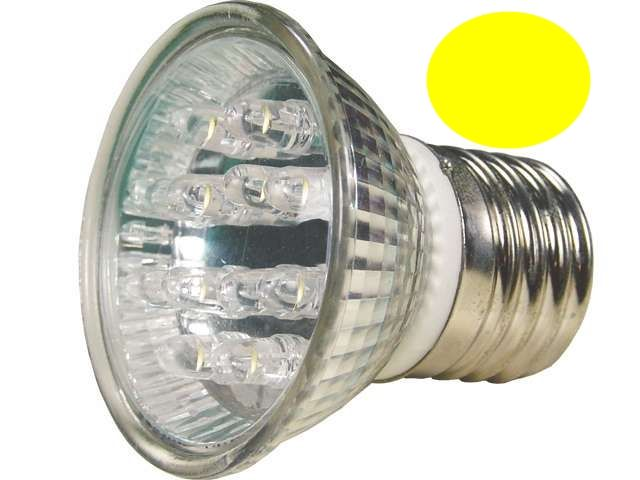 LL04 - Lâmpada Dicróica Led MR16 E27 Amarela 127V