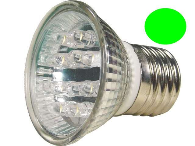 Lâmpada Dicróica Led MR16 E27 Verde 220V