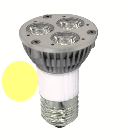 Lâmpada Dicróica Led MR16 E27 Branca Morna 3W Long 3000K Bivolt