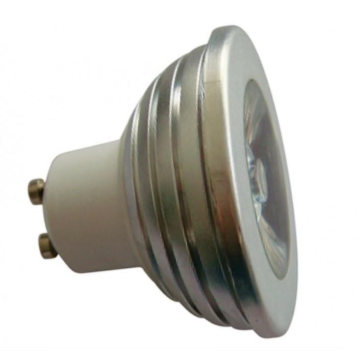 LL04 - Lâmpada Dicróica Led MR16 Gu10 Branco Frio 1 LED 6500K Bivolt 1700