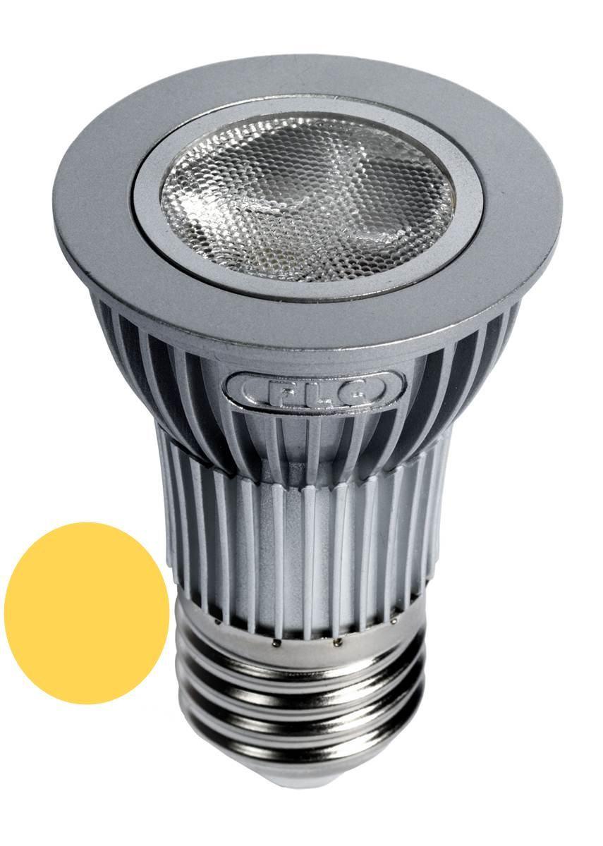 Lâmpada Dicróica Led MR16 E27 Branca Morna 3000K 4,5W Short Bivolt (Prata) - LL04