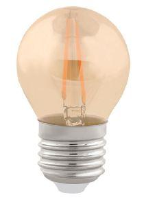 LL08 - Lampada LED Bolinha 2W Vintage Carbon Branco Quente G45 220V