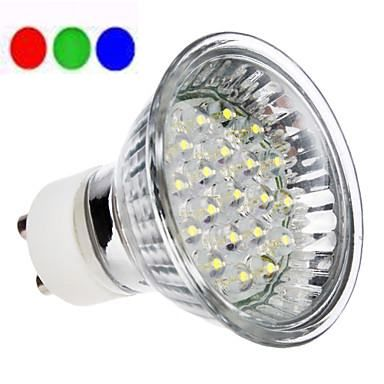 Lâmpada LED Dicróica 18 LEDs MR16 GU10 RGB 220V