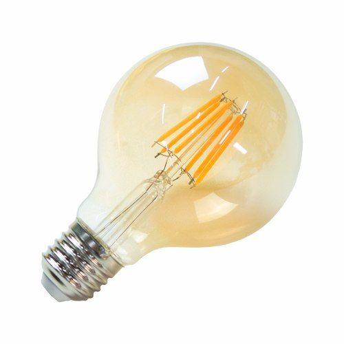 Lampada Filamento LED Globo G80 8W Vintage Carbon Branco Quente