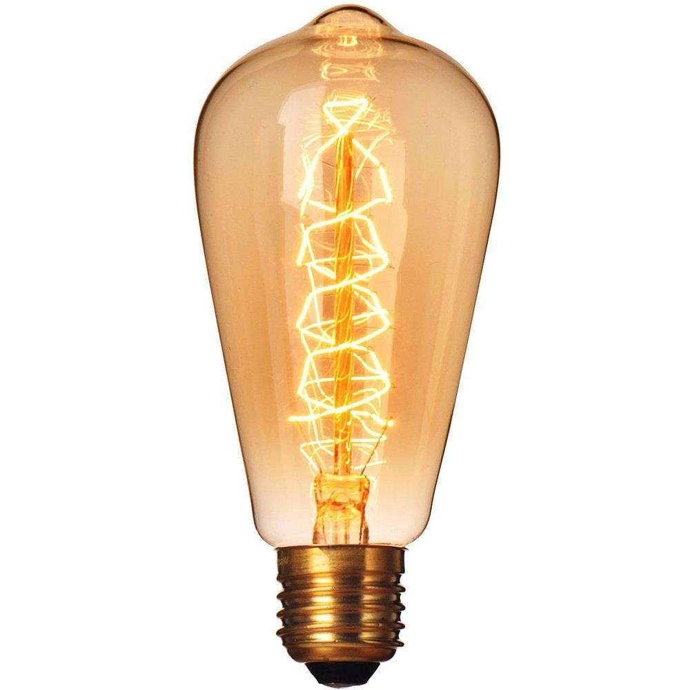 LL08 - Lampada LED Pera 8W Vintage Carbon Branco Quente