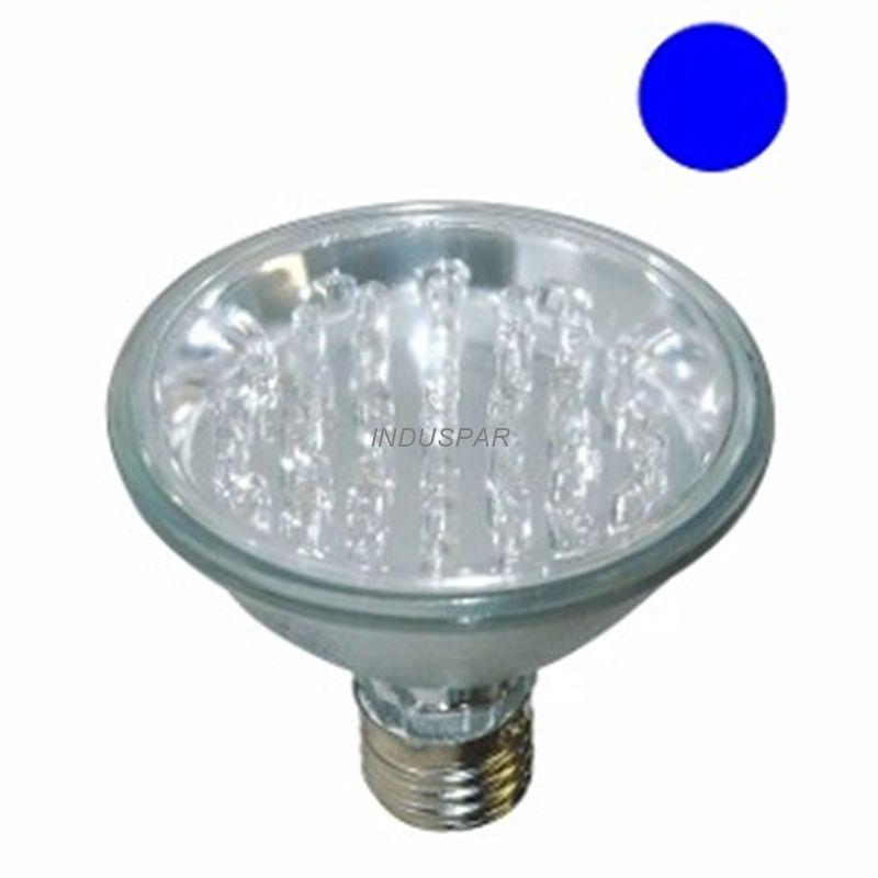 Lâmpada PAR 30 Led Azul 1W 18 LEDs 220V