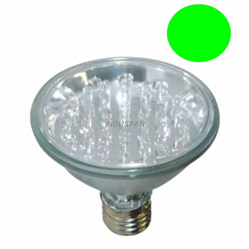 LL05 - Lâmpada PAR 30 Led Verde 1W 18 LEDs  220V