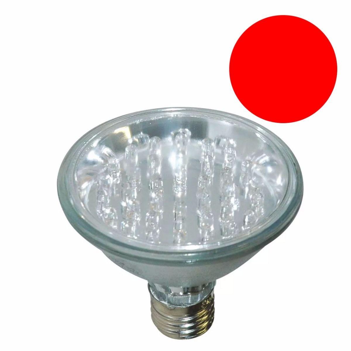 Lâmpada PAR 30 Led Vermelha LED 18 LED