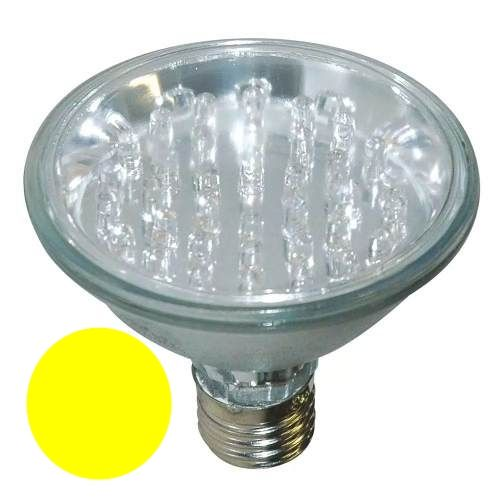 LL05 - Lâmpada PAR 38 Led Amarela LED 4,5W Par 38 80 LEDs 127V