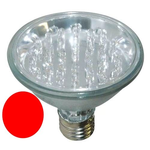 Lâmpada PAR 38 Led Vermelha 80 LEDs 127V