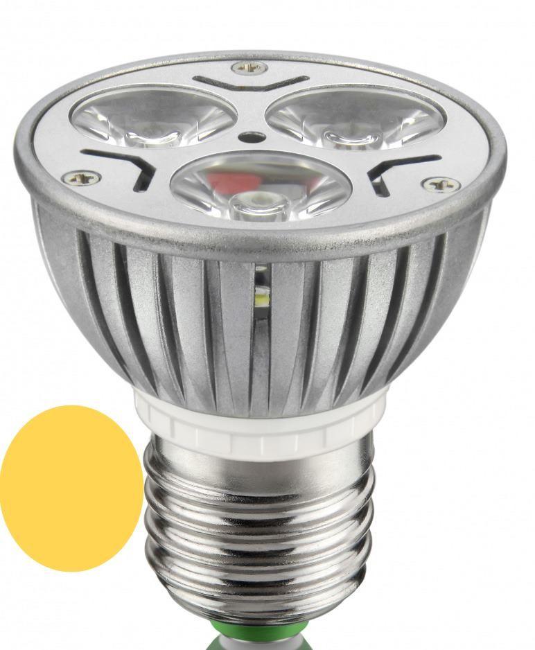 Lâmpada Dicróica Led MR16 E27 Branca Morna 3,5W 3000K Bivolt - LL04