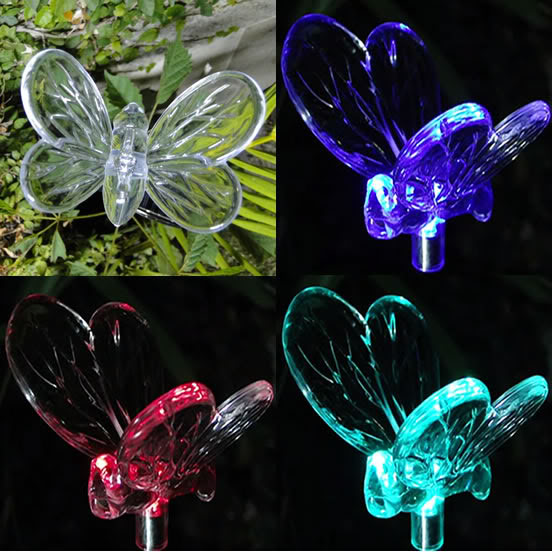 Luminária espeto de Jardim Solar EC 21154 - Borboleta 1371