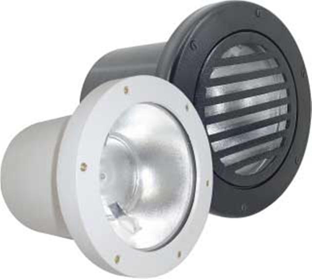Luminária de embutir no Piso Vapor Metálico HQI - 150W