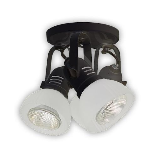 Luminária Externa tipo Spot para 3 Lâmpadas 23W - Preto R-429 3