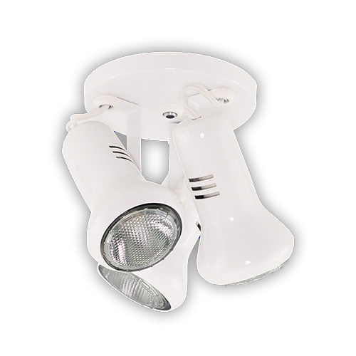 Luminária Externa tipo Spot para 3 Lâmpadas PAR 20 - Branco R-549/3