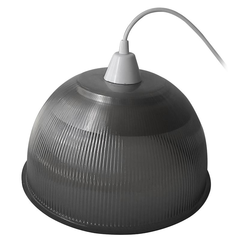 Luminária Prismática 12 Pol Pendente - Cúpula Fumê  Led 18W