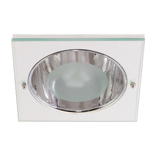Luminária Funil de Embutir Quadrada Aluminio - Lâmpada até 26W - JPC - Ref. 054