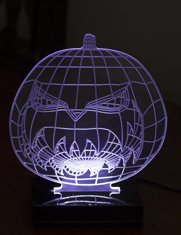Luminária 3D Acrílico LED - Abobora