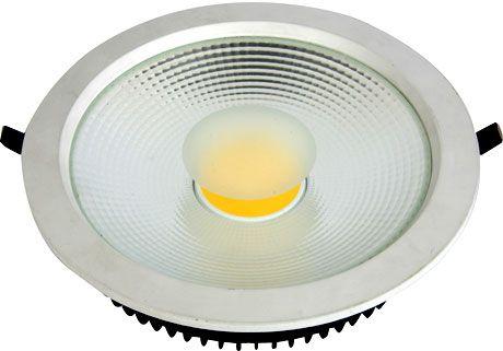 Luminária LED Downlight  50W COB PRO Embutir Redonda Facho 120º - 4.500 Lúmens
