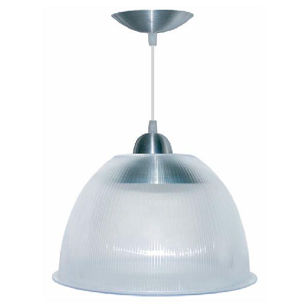 Luminária Prismática 16 Polegadas Cristal Pendente Alumínio - LP0316