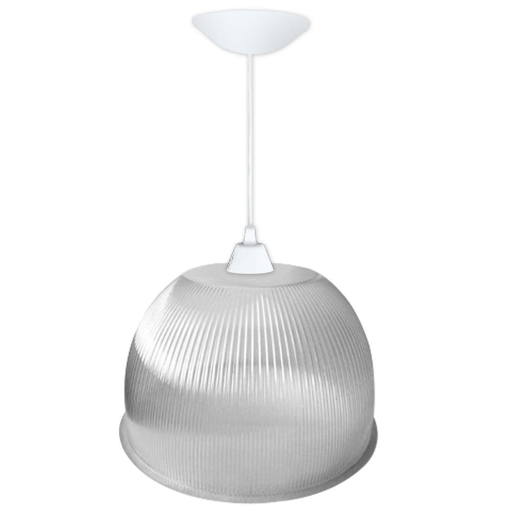 Luminária Prismática 22 Polegadas Cristal Pendente Branco Básico - LP0122