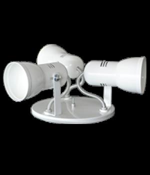 Luminaria Spot em Aluminio para 3 lampadas economica de até 25W WDESIGN