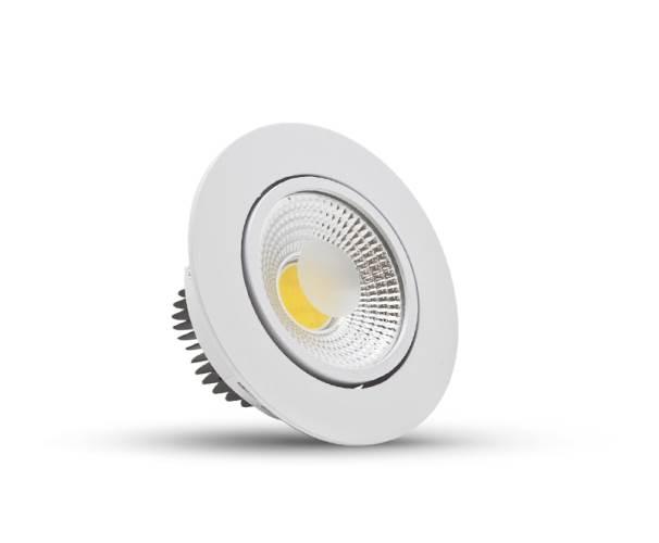 Luminária Spot Led 10W 3000k Embutir Redonda LED - Bivolt FLC