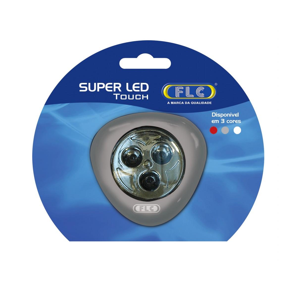 Luminária Super LED Touch 3 LEDs - (Led Click)