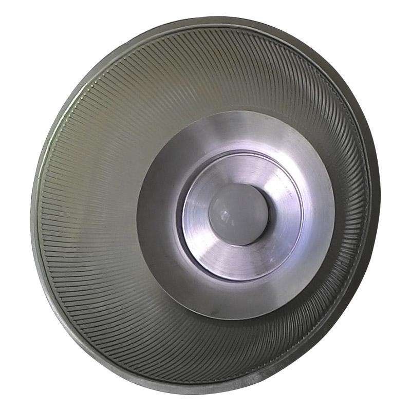 Luminária Prismática 12 Pol Pendente - Cúpula Azul Translúcido LED 18W