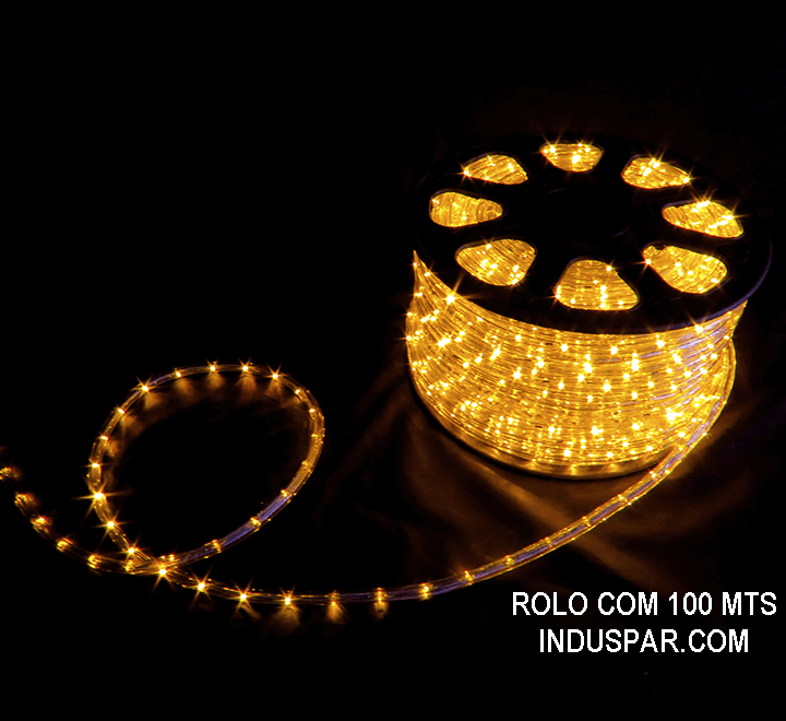 N01-03-100 - Mangueira Luminosa Amarela LED Ø 12 mm - 100 Metros