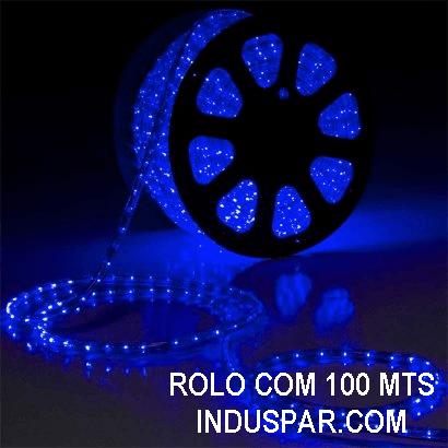 Mangueira Luminosa  Azul - Corda de Natal 100 Metros