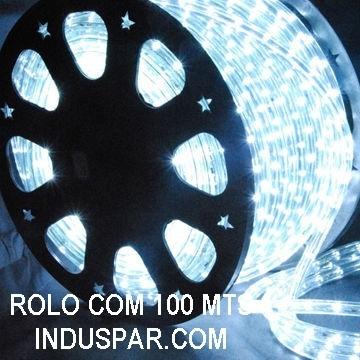 Mangueira Luminosa  Branca Fria LED - Corda de Natal 100 Metros