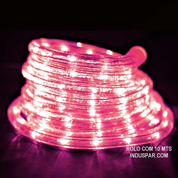 Mangueira Luminosa  Rosa LED - Corda de Natal 100 Metros