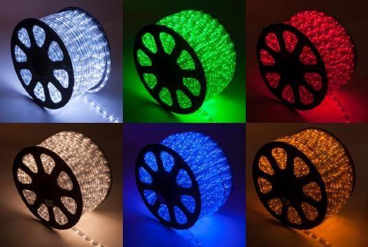 Mangueira Luminosa Amarela LED - Corda de Natal 10 / 100 Metros