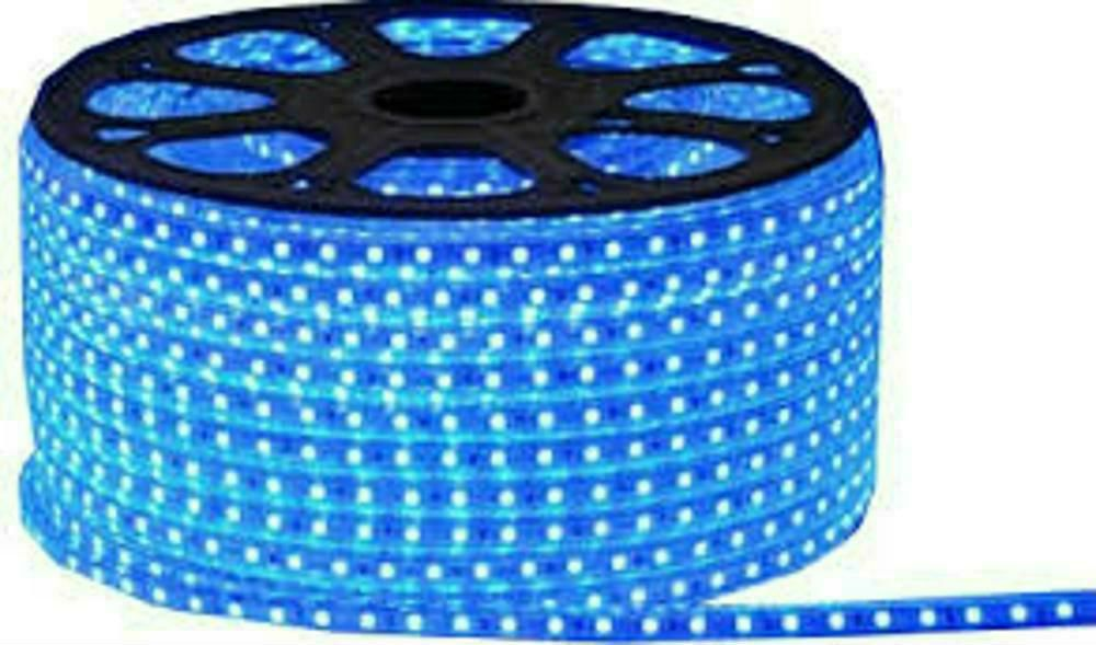 Mangueira Luminosa Led Azul 100 Metros Fita Chata (60 leds/mt)