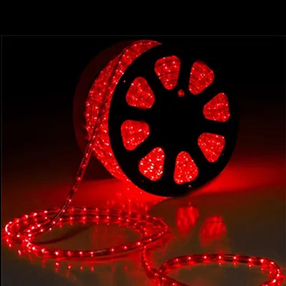 Mangueira Luminosa Led Vermelha  100 Metros Redonda