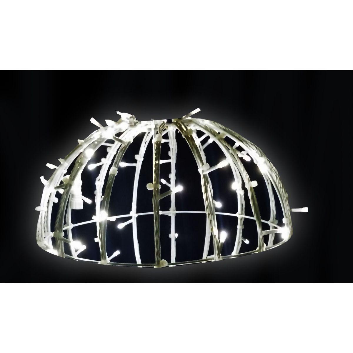 132/100-FA - Bola de Natal 1,00 Metro Meia Face  Esfera Gigante Led