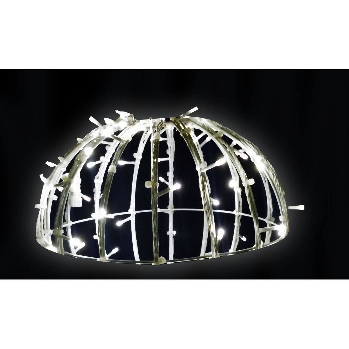FI-132/100 - Bola de Natal 1,00 Metro Meia Face  Esfera Gigante Led 3D