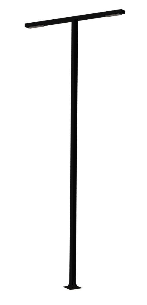 Poste de Jardim Girafa Reto Led - 2 Pétala Max Led 80W 10.000 Lúmens - P05L/2-40W