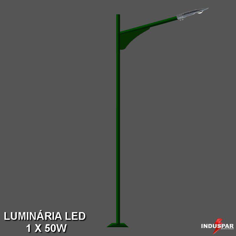 Poste de Jardim Led 1 Luminária 50W - Onix - P09L/1-50W