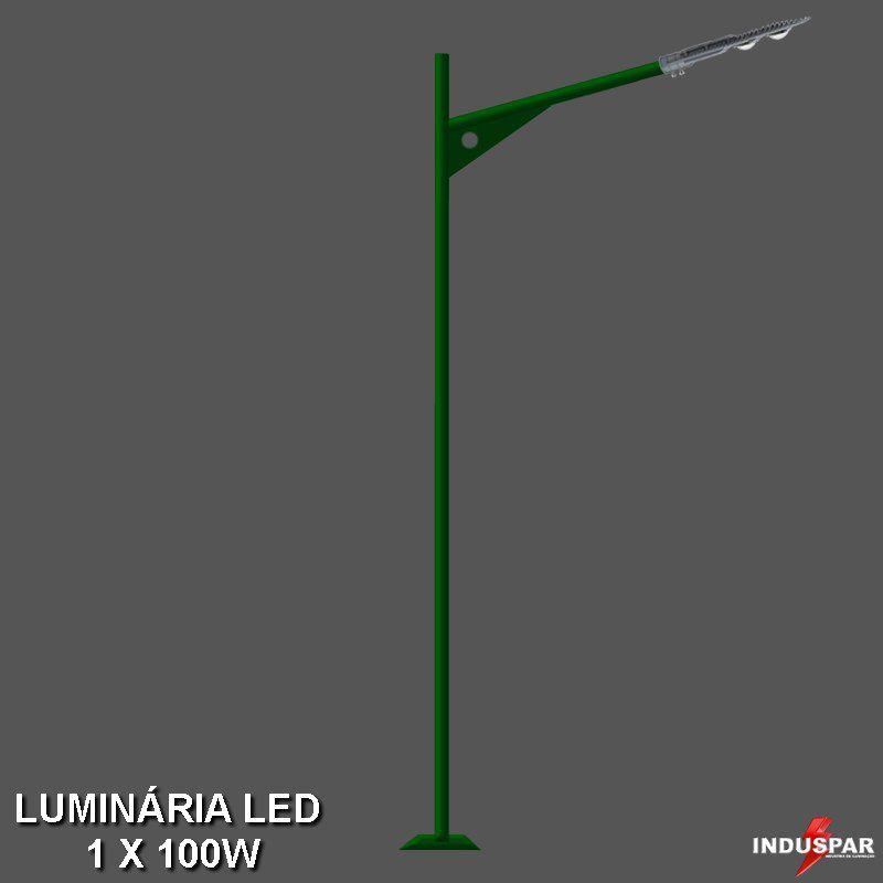 P10L/1 - Poste de Jardim Led 1 Luminária - Omata