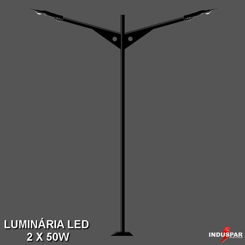 P10L/2 - Poste de Jardim Led 2 Luminárias - Omata