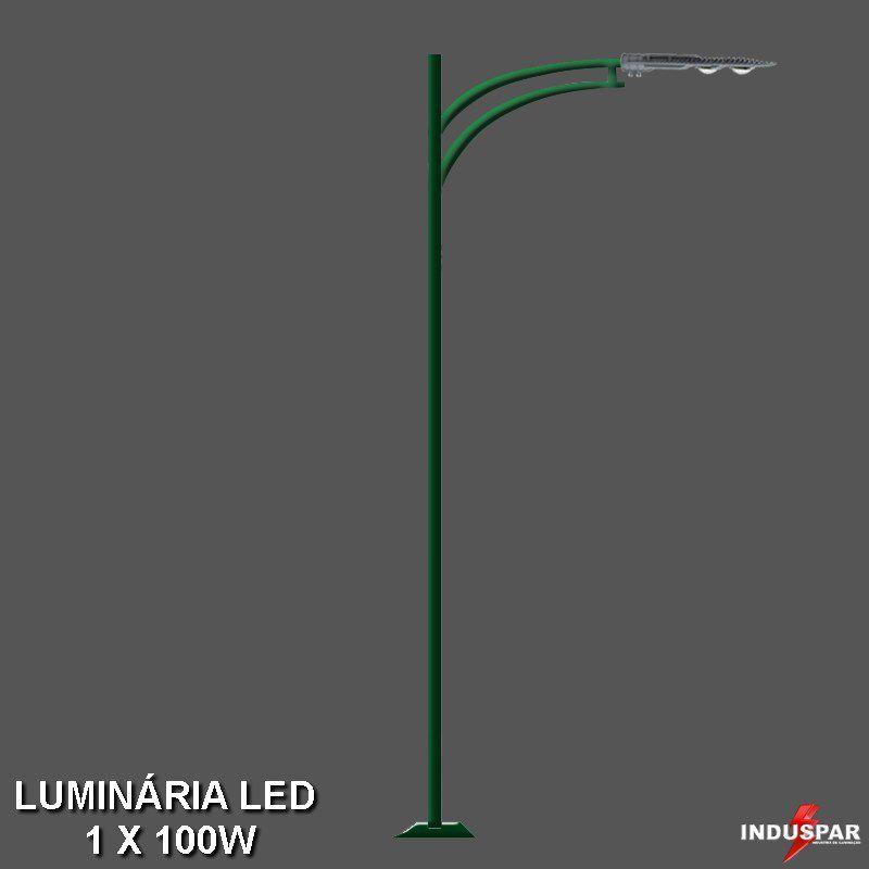 P12L/1 - Poste de Jardim Led 1 Luminária - Rubi