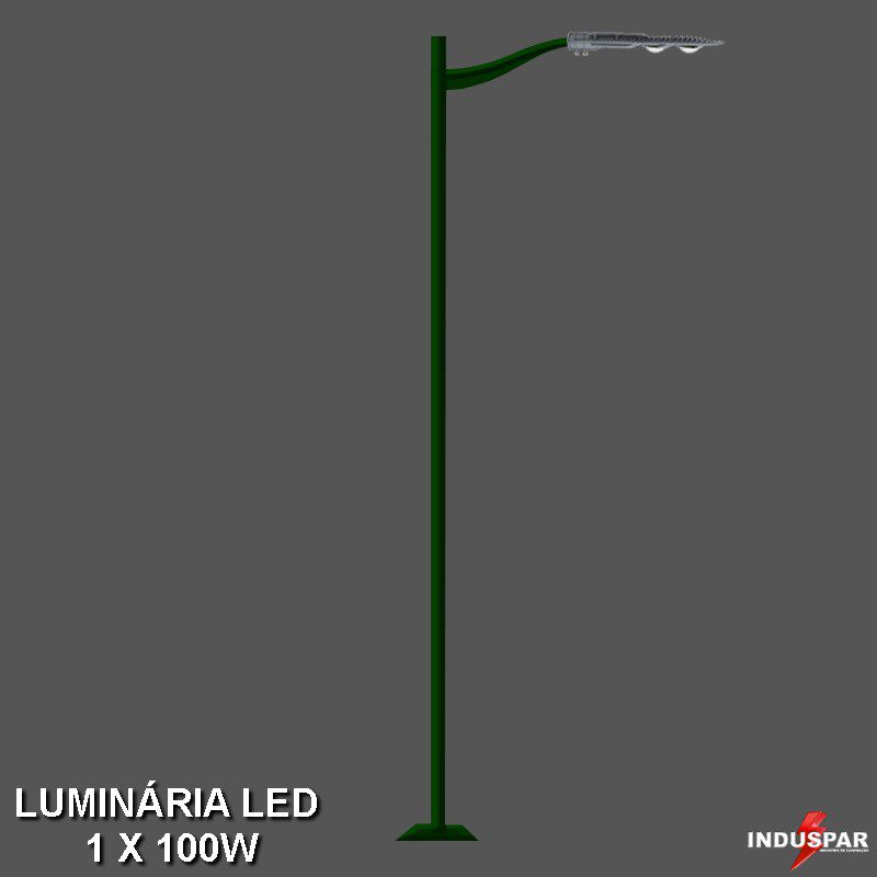 P13L/1 - Poste de Jardim Led 1 Luminária - Safira