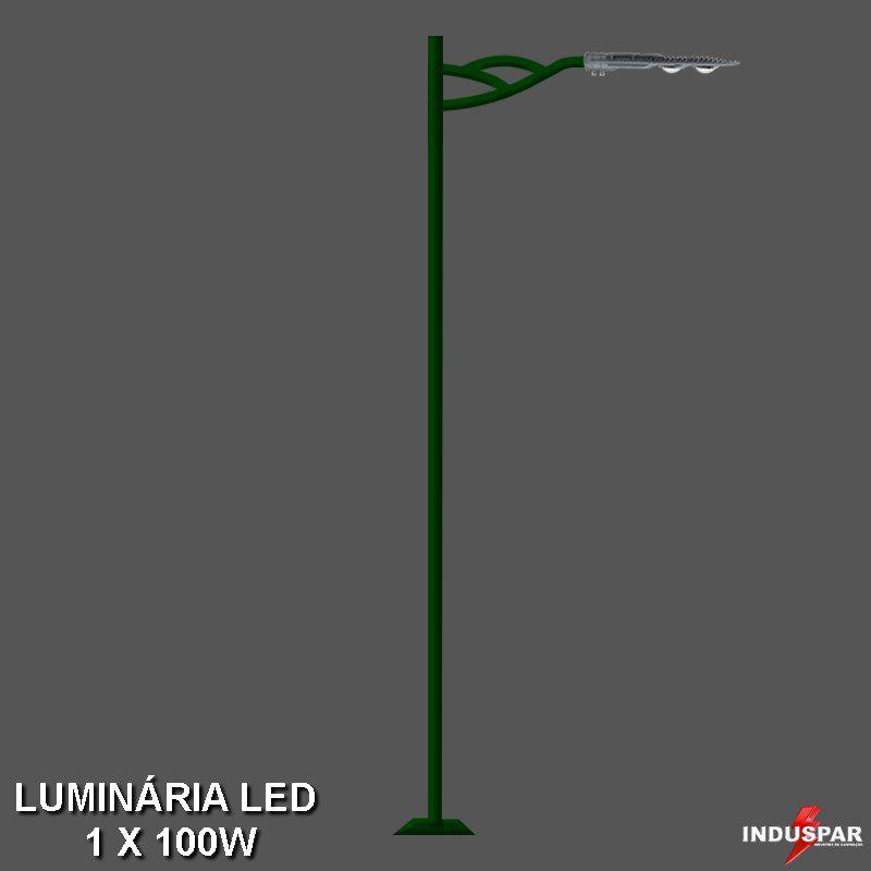 Poste de Jardim Led 1 Luminária - Turquesa - P14L/1-50W