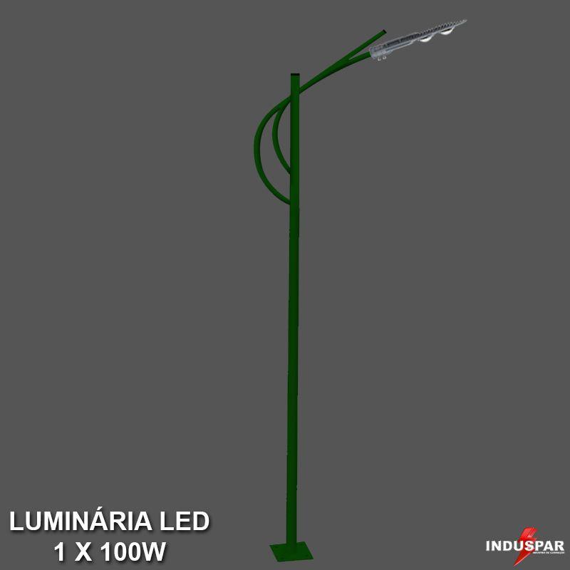 P25L/1 - Poste de Jardim Led Titan 01 - 1 Luminária 100W