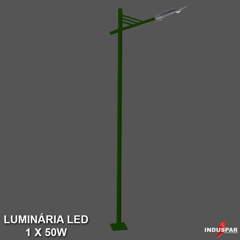 P26L/1 - Poste de Jardim Led Titan 02  - 1 Luminária  50W